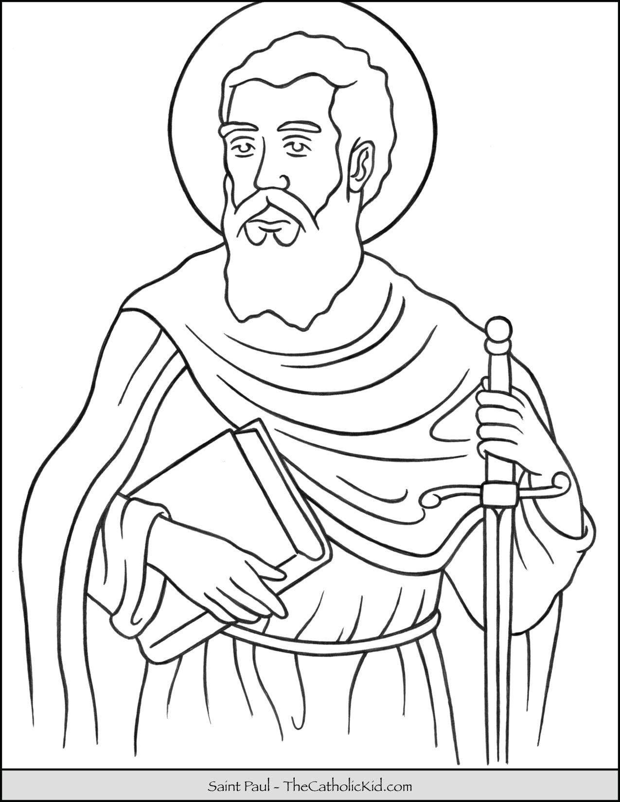 Saint Paul Coloring Page Thecatholickid Com Coloring Pages