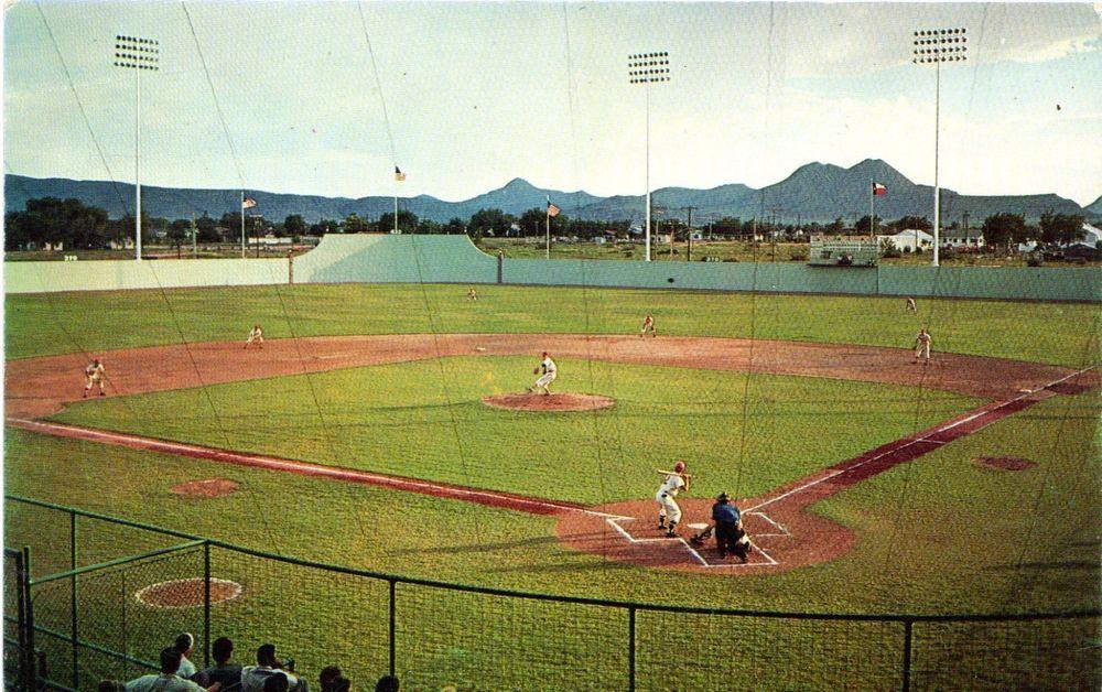 Tough To Find Alpine Texas Kokernot Field Baseball Stadium Postcard Baseball Stadium Alpine Texas Alpine