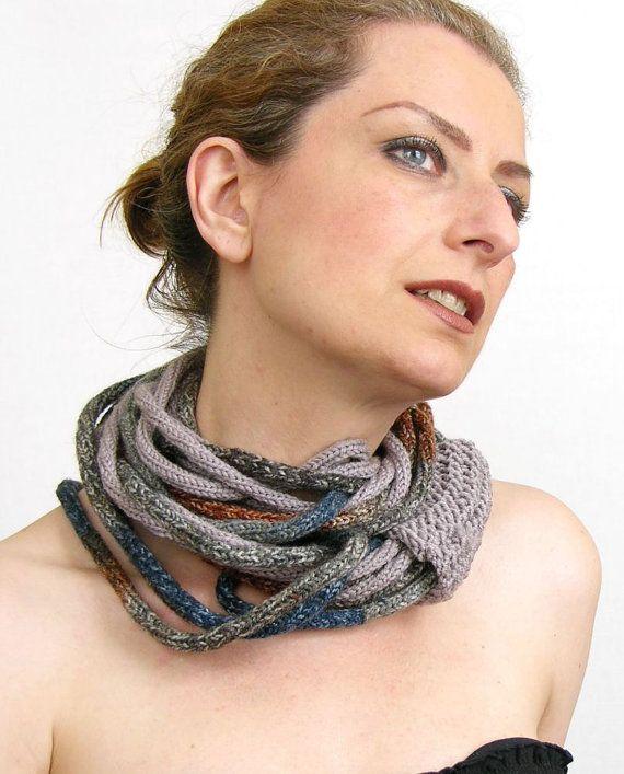 Scarf necklace loop scarf infinity scarf neck wrap par piabarile, $35,00