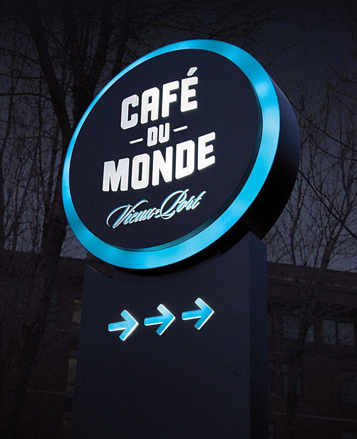Download French Bistro Cafe Du Monde Work Lg2boutique Neon Box Signage Sign Design