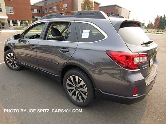 2016 Subaru Outback Limited Carbide Gray Color Shown Optional Side