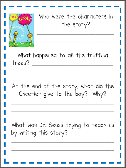 Worksheets Student Worksheet To Accompany The Lorax lorax worksheet fourth grade pinterest good books the worksheet