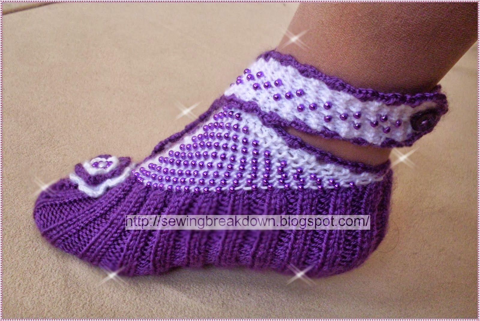 خياطة و تفصيل خطوات كروشيه جوارب بالتفصيل Crochet Socks Crochet Ripple Knitting Socks