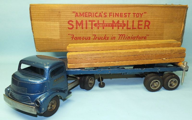 Vintage 1950s Smith Miller Lumber Truck Toy Box 406l