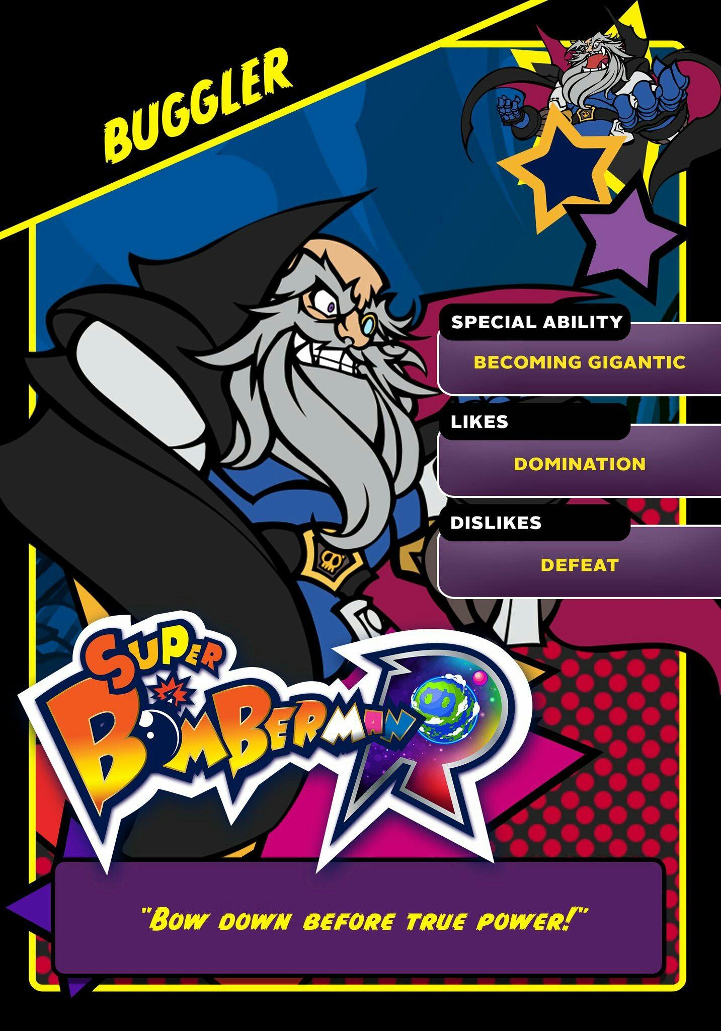 Super Bomberman R Black Bomber: Super Bomberman R Buggler