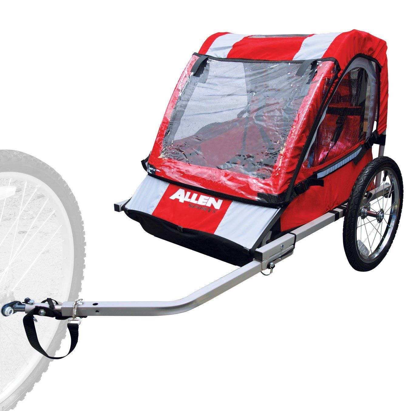 Allen Sports 2 Child Steel Trailer Baby Bike Trailer Child