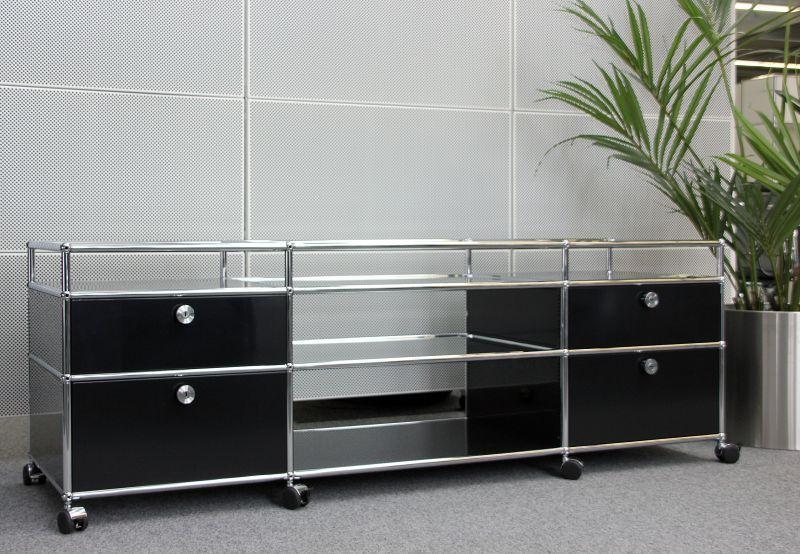 USM Haller TV Board / Sideboard / Mediaboard / Schwarz In Möbel U0026 Wohnen,