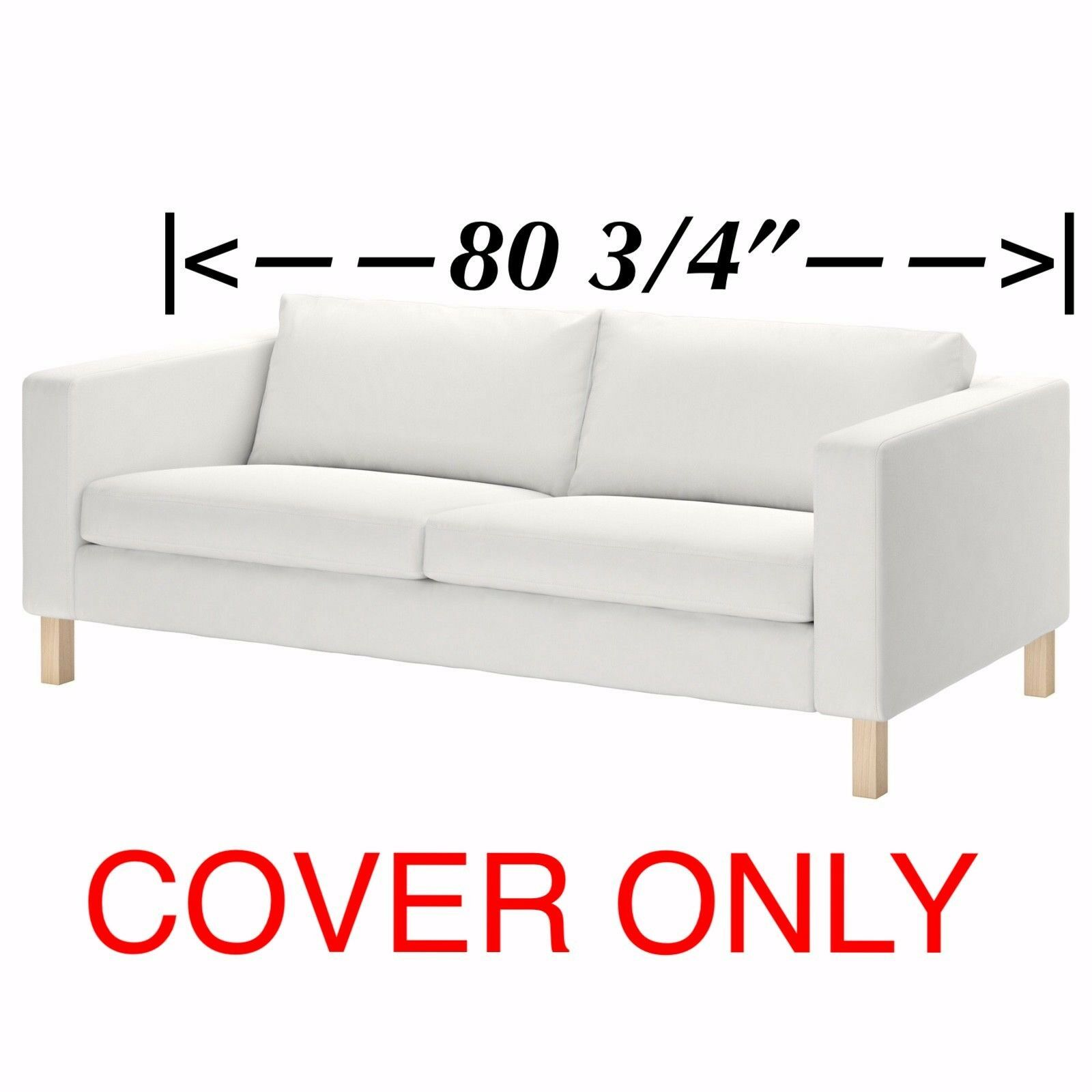 Astonishing Ikea Cover For Karlstad Sofa 80 3 4Width Slipcover Short Links Chair Design For Home Short Linksinfo