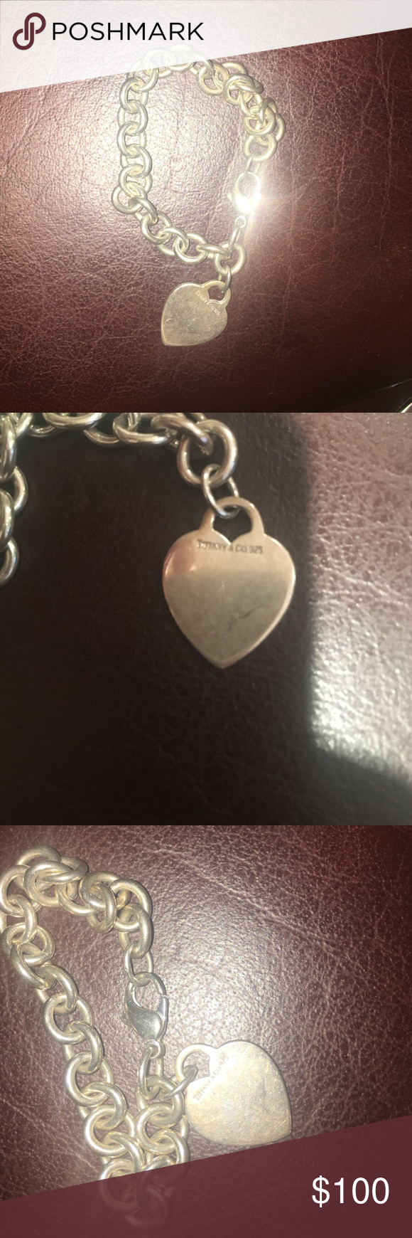 Tiffany silver bracelet Tiffany and co silver heart tag bracelet Tiffany & Co. Jewelry Bracelets