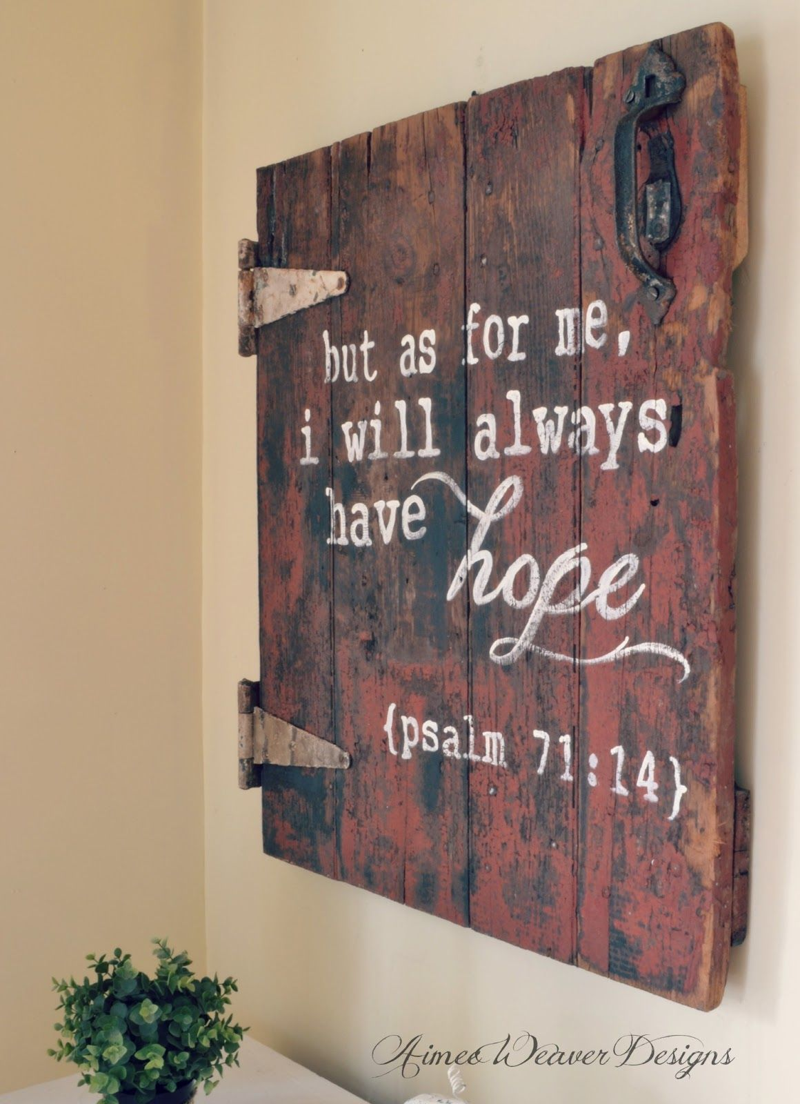 wood signs to add rustic glam to your decor verses bible and doors