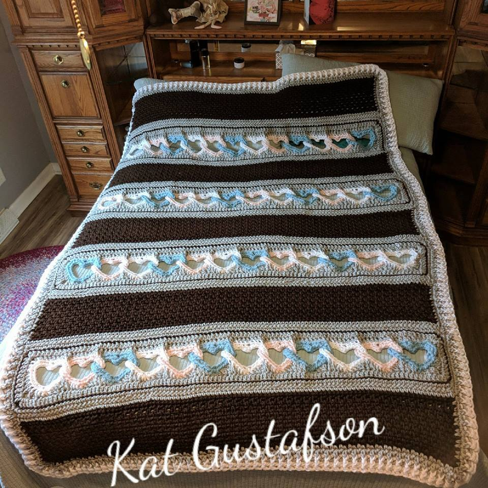 With All My Heart Blanket Custom Made to Order. Heart