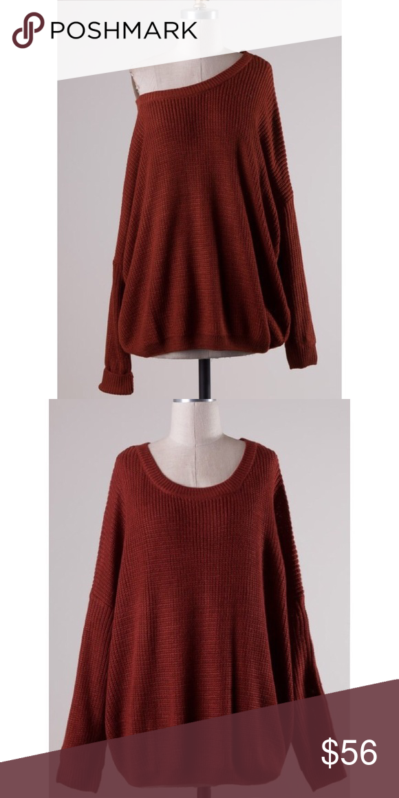 LAST1 • Rustic Red Oversized Knit Sweater | Fashion, Clothes