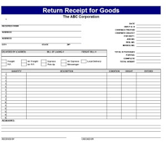 Return receipt templates for goods | Receipt Template | Pinterest