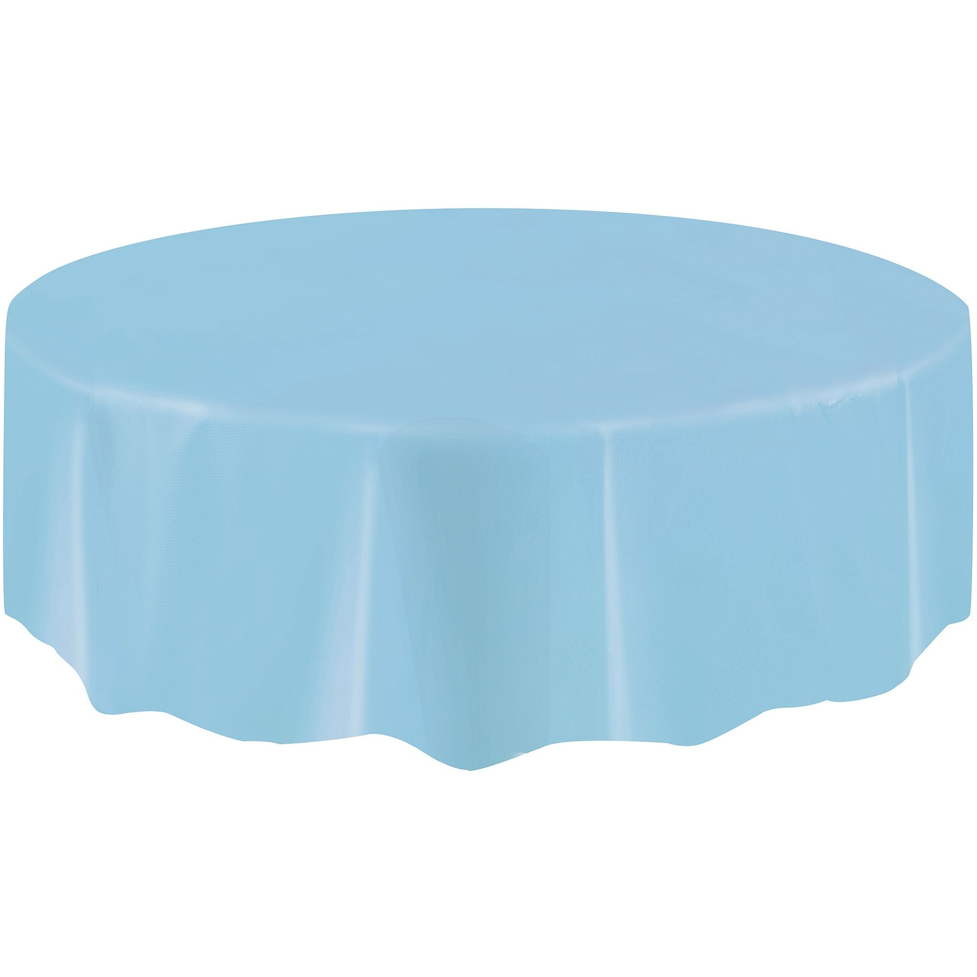 60 Round Plastic Tablecloths