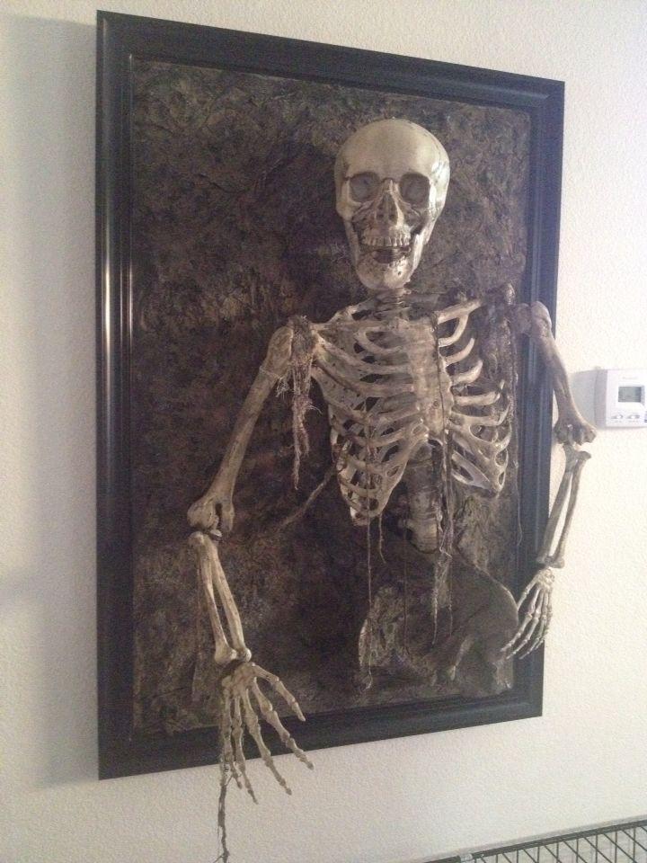 Skeleton coming out of frame. Walgreens skeleton, michaels poster ...