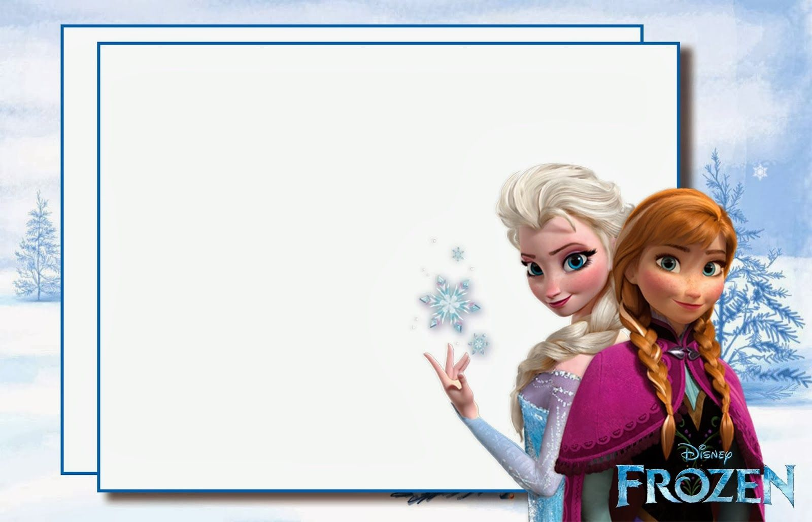 Frozen Party: Free Printable Invitations. | frozen | Pinterest ...