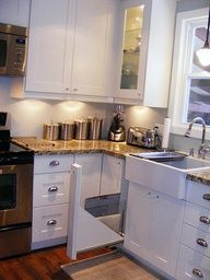 Adel White Kitchen A Cookie Sheet Pull Out Was Custom Made For Beside The Sink Out Of A Spare Cupboard D Kitchen Sink Design Corner Sink Kitchen White Kitchen