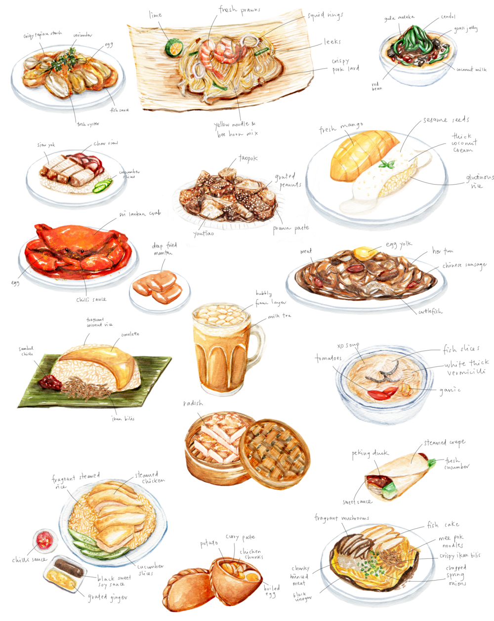 Singapore & Asian Cuisine Restaurant Labyrinth Menu