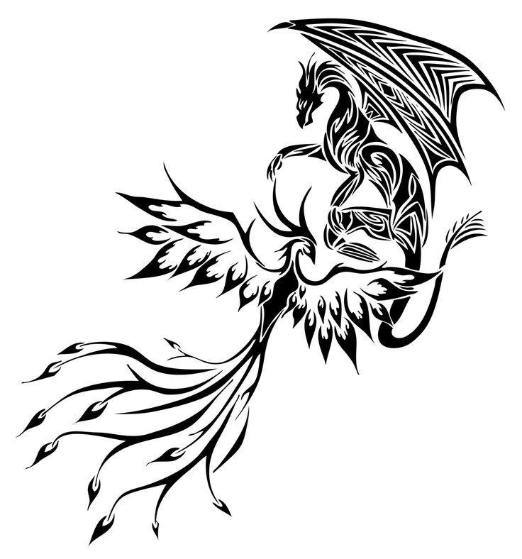 феникс рисунки для тату ряде случаев такие