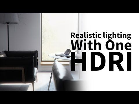 Cinema 4D - Realistic Lighting an Interior Scene using One