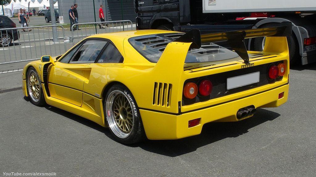 Yellow F40 Klasyczne Samochody Samochody