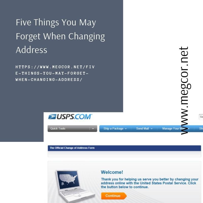 Things You May Forget When Changing Address With Usps Change Your Address Change Of Address Address Post