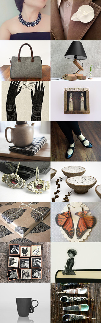 elegant brown  by Barbara Bisarello on Etsy--Pinned+with+TreasuryPin.com