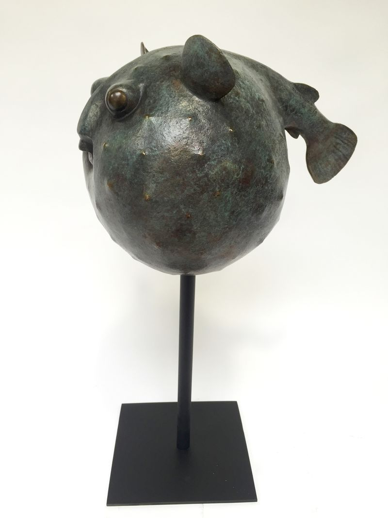 Poisson Globe Sculpture En Bronze Numrot Sign Florence Jacquesson 2019