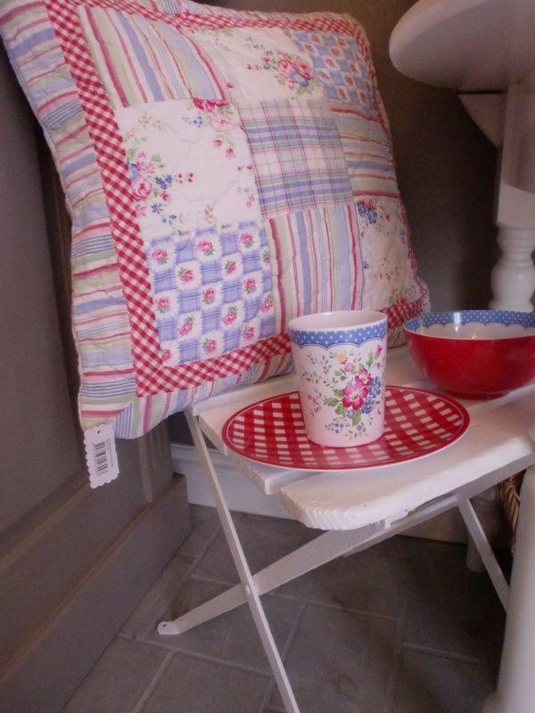 GreenGate Quilted Cushion Agnes Mix 50 x 50 cm | Cushions GreenGate | Originated-Shop