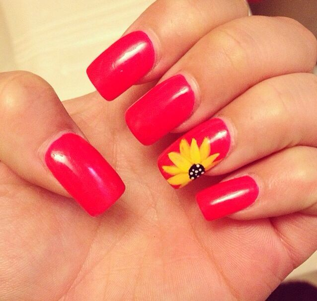 sunflower nails beauty