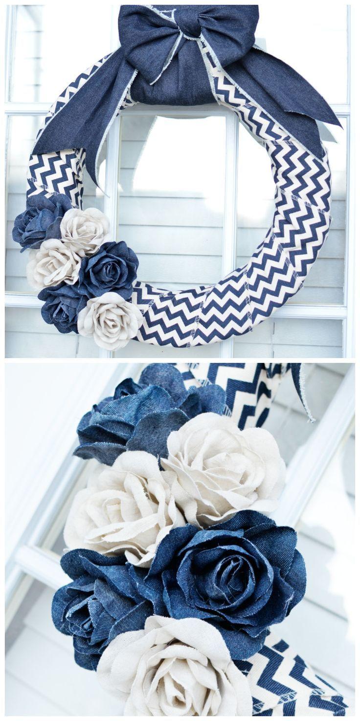 Photo of Denim wreath tutorial – in just 10 minutes !! – DIY decoration