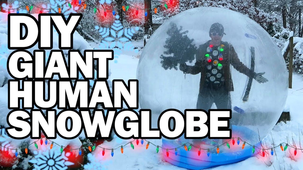Diy Giant Human Snow Globe Man Vs Madness With Images Diy