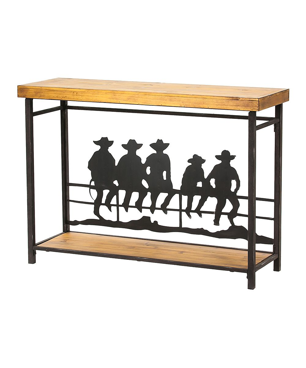 Space saving hallway furniture  Cowboys On the Fence Hall Table