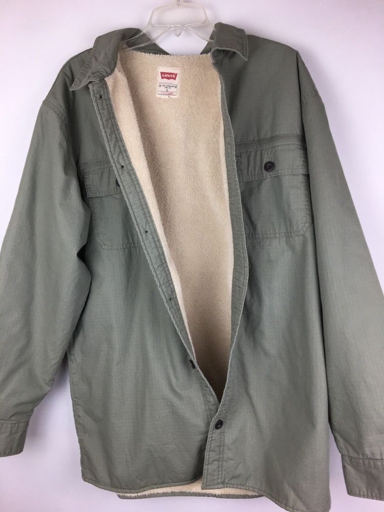 Levis Mens Jacket Large Lined Button Down  fashion  clothing  shoes   accessories  mensclothing  coatsjackets (ebay link) 0f527cfd8