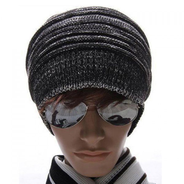 High Quality Fashion Style Warming Stripe Knitting Wool Cap For Men #CLICK! #clothing, #shoes, #jewelry, #women, #men, #hats