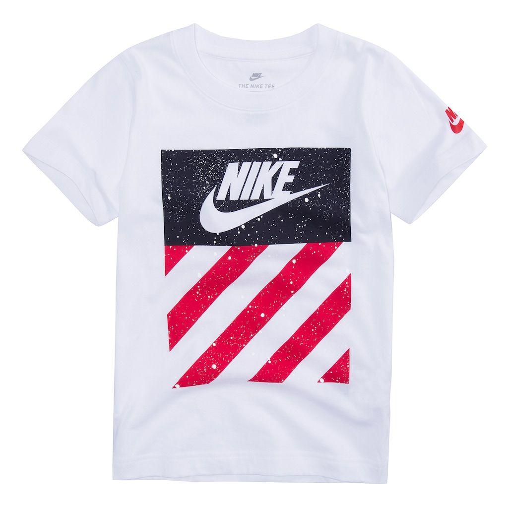 7bae88f5d6b0 Boys 4-7 Nike Patriotic Reflective Logo Graphic Tee, Size: 5, White