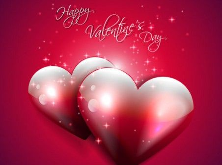 Happy Valentine S Day Red Backgrounds Vector Happy Valentine S Day