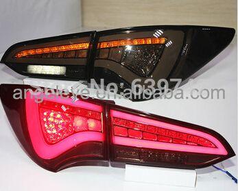 2013 2014 Year For Hyundai Santa Fe Ix45 Led Tail Light Rear Lamps Smoke Black Wh Led Tail Lights Lights Car Lights