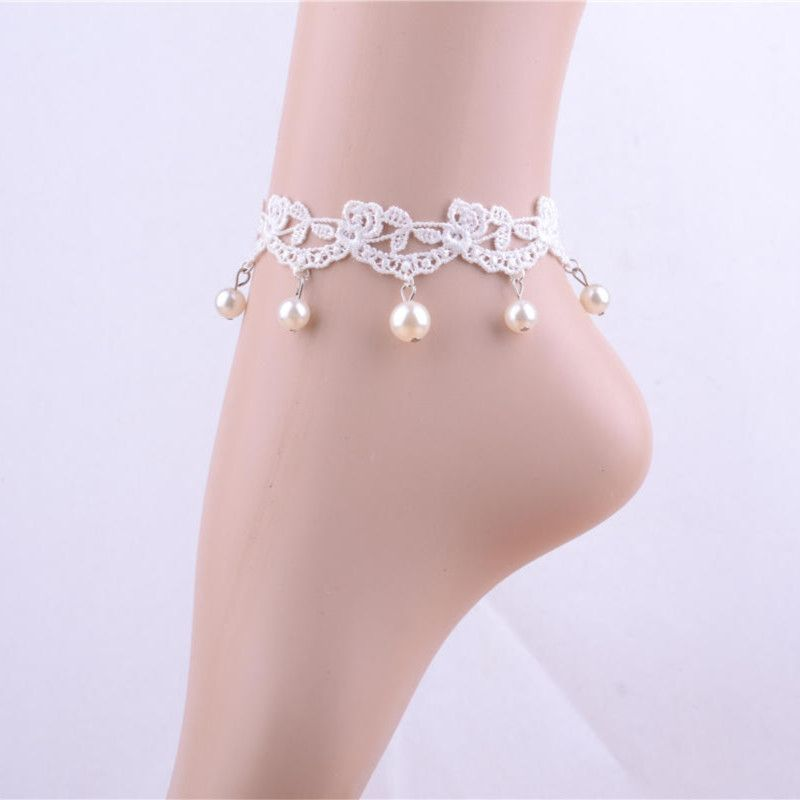 Find More Anklets Information about artificial jewelry pearl ...