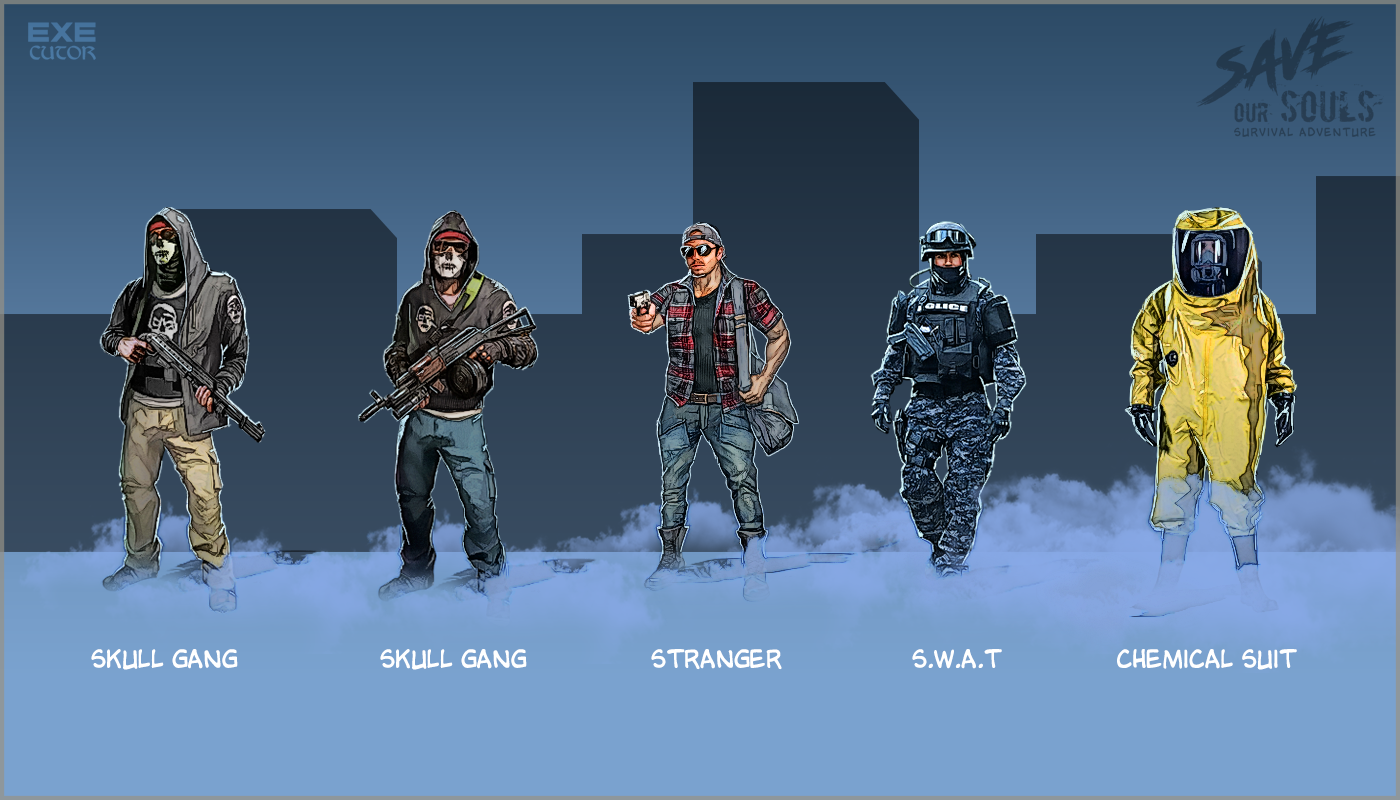 Zombie Apocalypse Survival Game Characters On Behance In