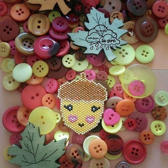 J'adore l'automne et les longues ballades en forêt. Regardez ce qu''on a trouver. #lescrapestdanslepré #promenonsnousdanslesboismiyuki #perlesandco @perlesandco @8.mars_ @florette_ellebe #miyuki #gland #beads #brickstitch #perleusecompulsive #jenfiledesperlesetjassume