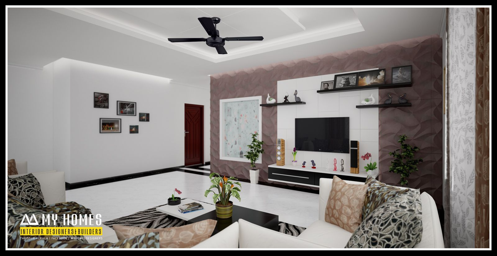 Kerala living room designs present trendy designs for for Living room design ideas kerala