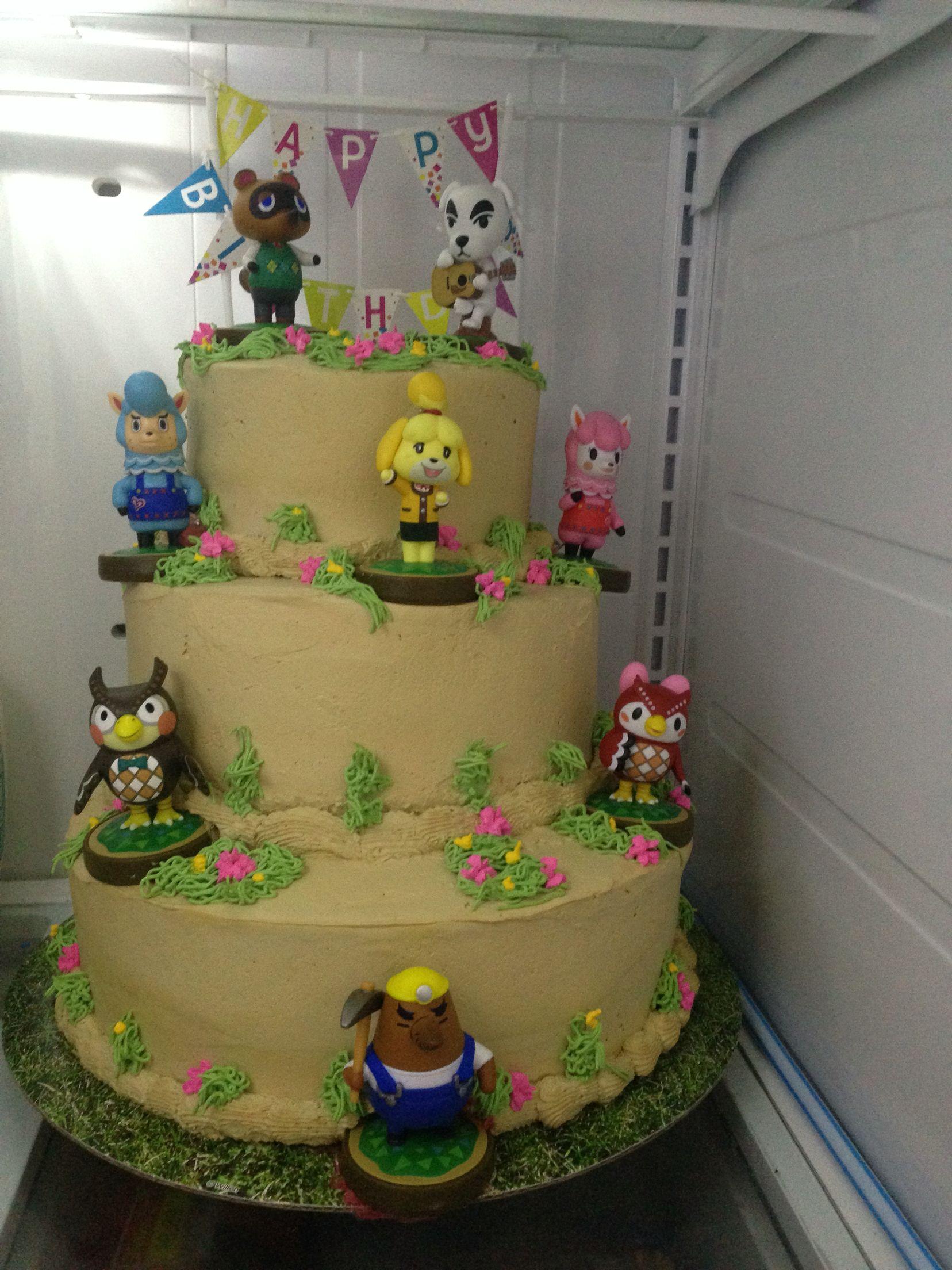 Wondrous Animal Crossing Birthday Cake Made From Amiibos With Images Personalised Birthday Cards Veneteletsinfo