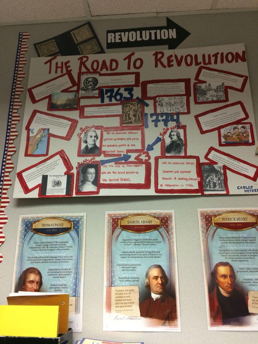Classroom Decor Ideas For High School ~ American revolution bulletin board early us history