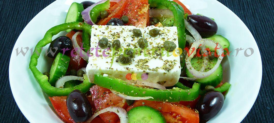 Reteta de salata greceasca originala pare simpla, dar vrea și artă! Descoperiti reteta originala de salata greceasca si secretele ei!