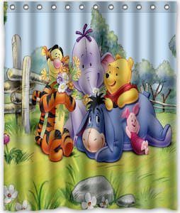Winnie The Pooh And Friends Shower Curtain Winnie The Pooh Pooh Friends Hanging Out