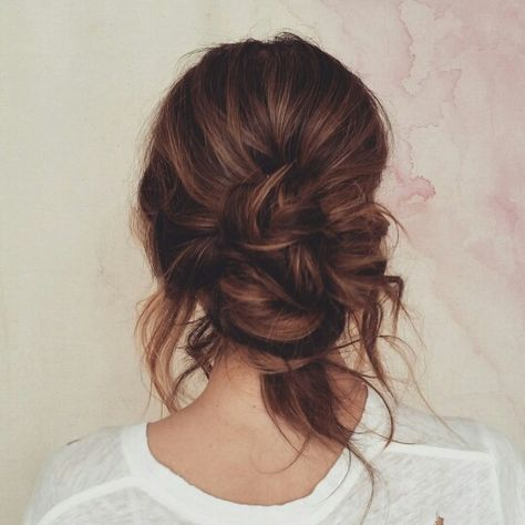 Loose Low Bun In 2019 Hair Styles Messy Hairstyles