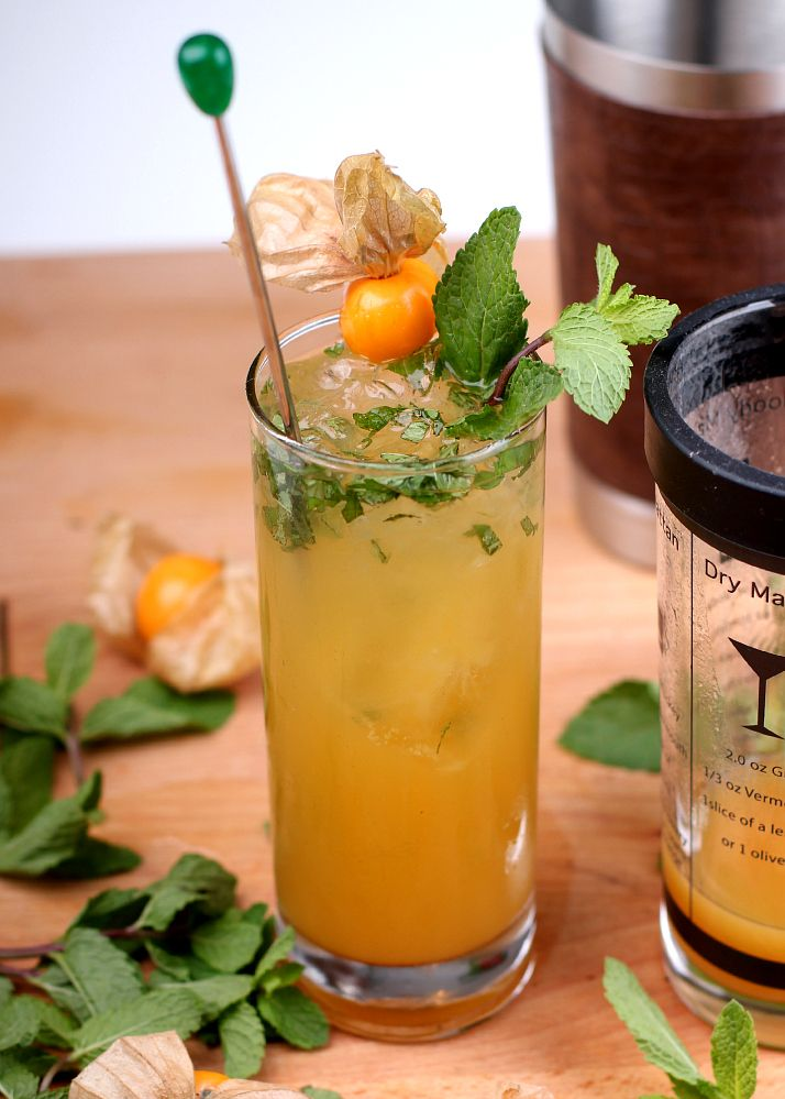 Bubbly Peach Julep | The Daily Dose