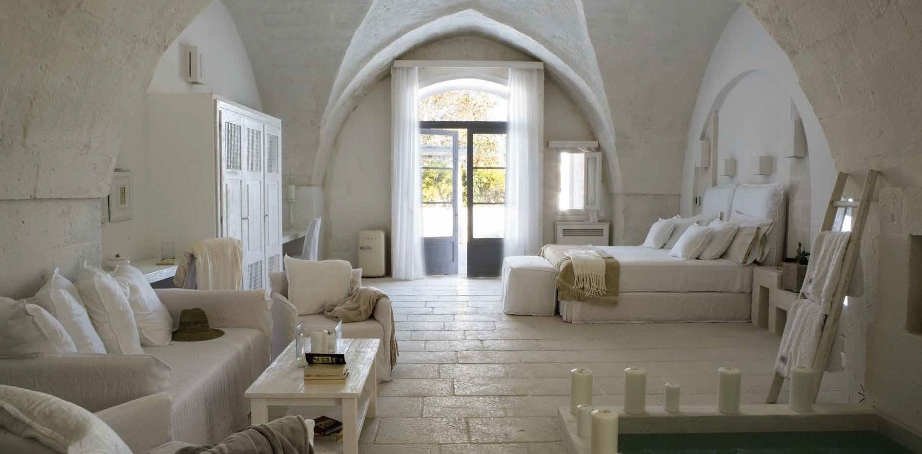 Ambientazione pavimentata con Vecchia Chianca bianco nel formato ...