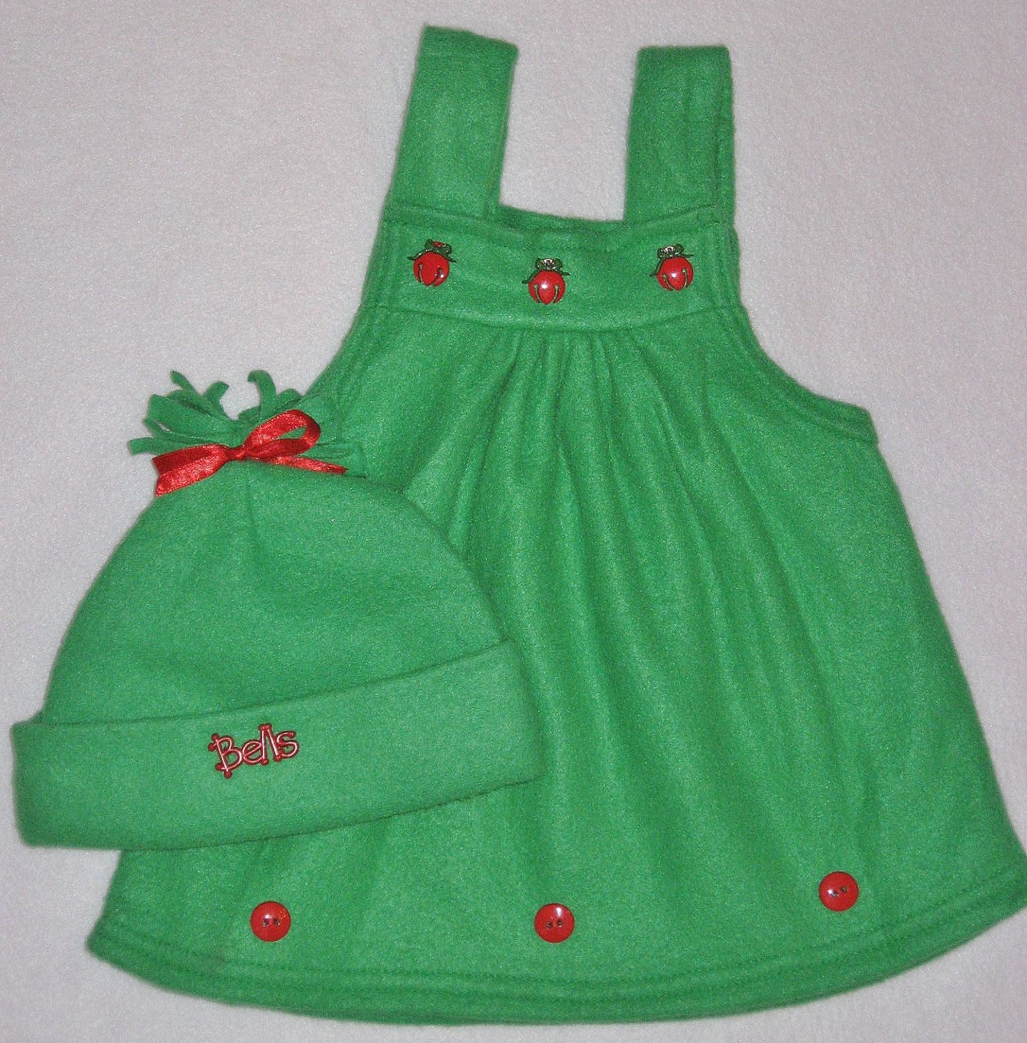 Green Fleece Christmas Jumper Baby Girl Fleece Jumper Christmas